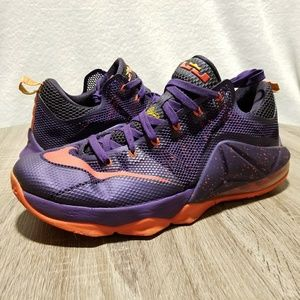 Nike LeBron 12 Low Purple Bright Crimson
